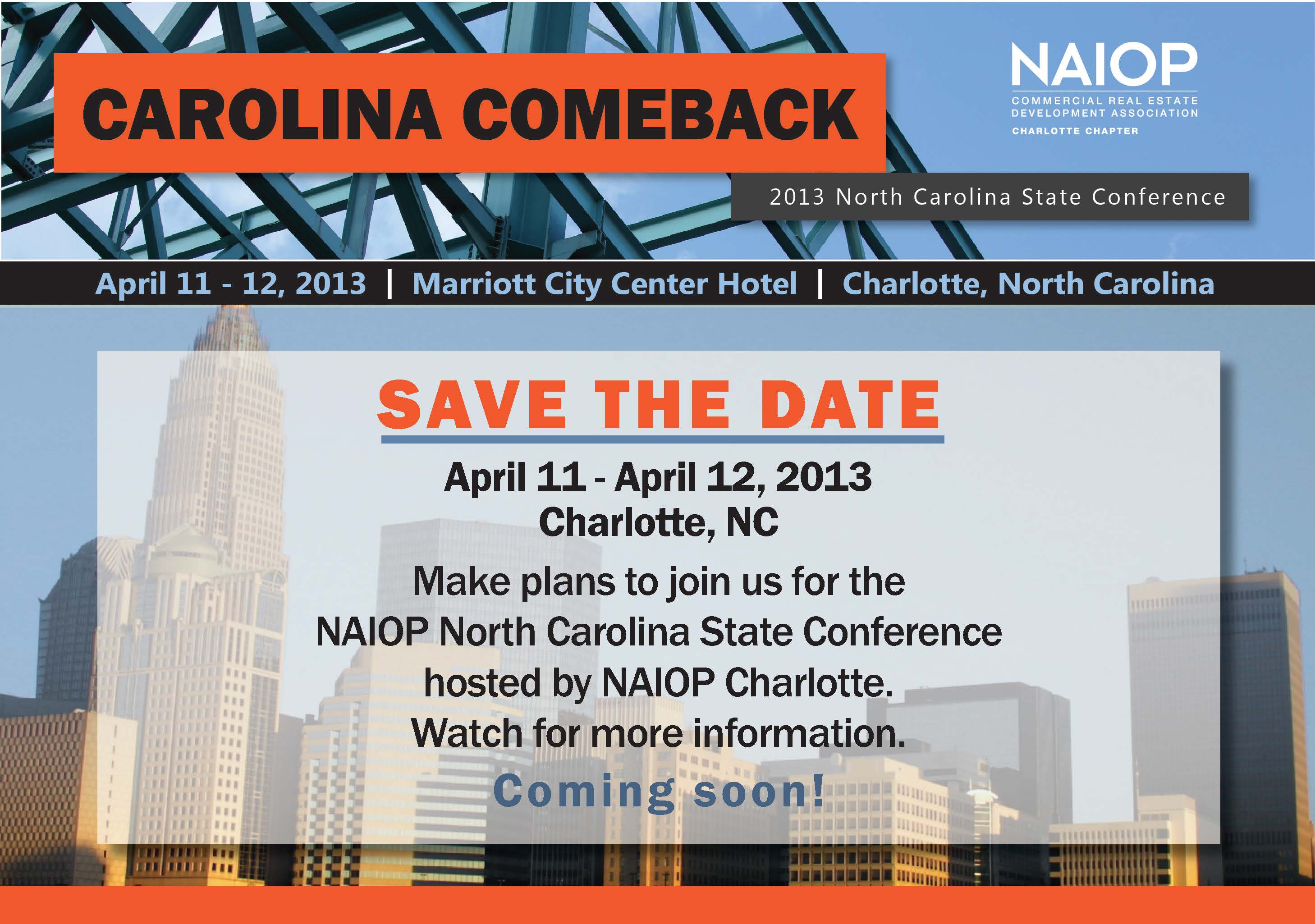 save the date april 11 12 naiop nc state conference naiop